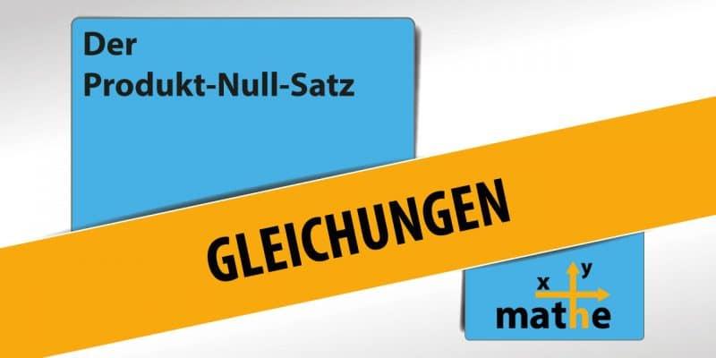 Thumbnail Der Produkt-Null-Satz