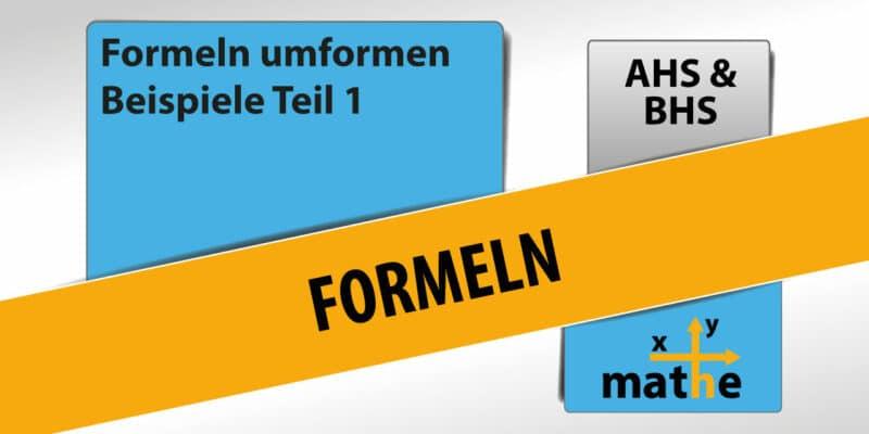 Thumbnail Formel umformen Teil 1